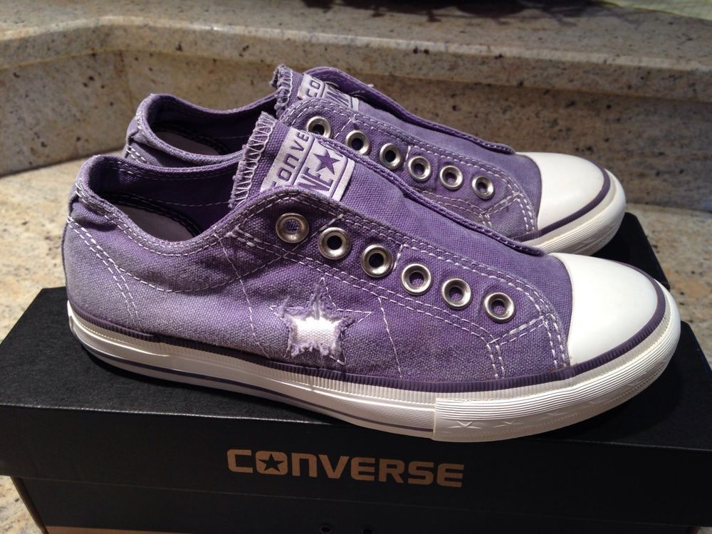 Converse One Star Laceless Sneakers Women s 5.5 Lilac Tennis Shoes ... 060b4f59c