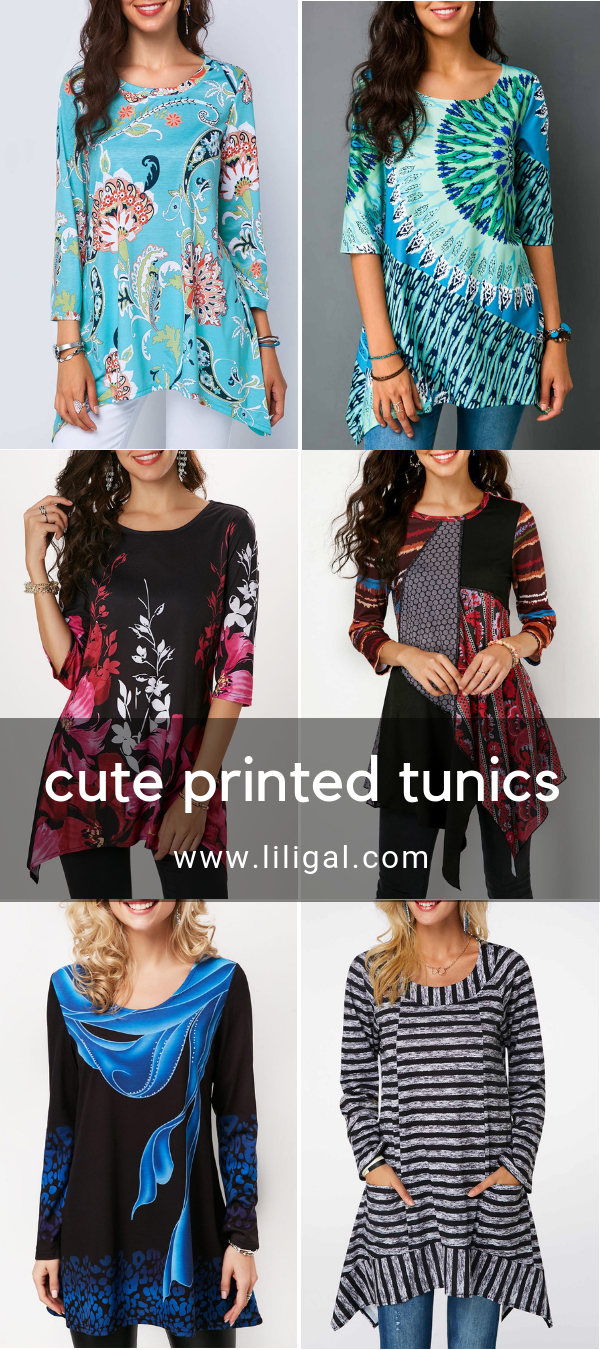 e7541c104abd11 printed tunic tops