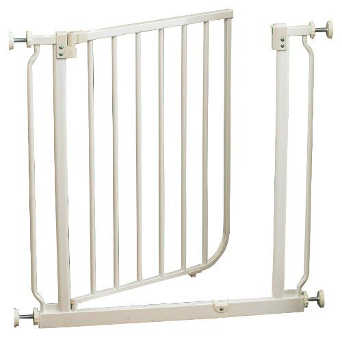 North States Supergate Easy Close Metal Gate, White 40.45