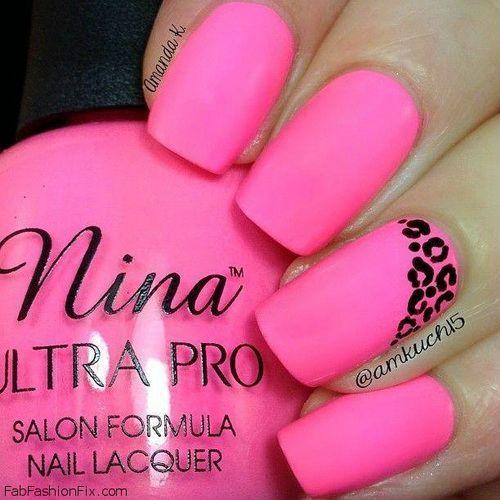 Hot Pink Nail Designs Nail Colors Pinterest Hot Pink Nails