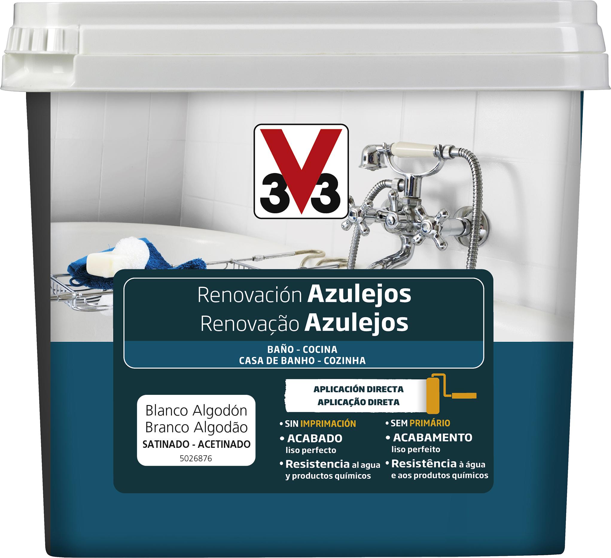Esmalte Renovaci N Azulejos V33 Para Renovar Los Azulejos Bloques  # Muebles Wimpy Jg