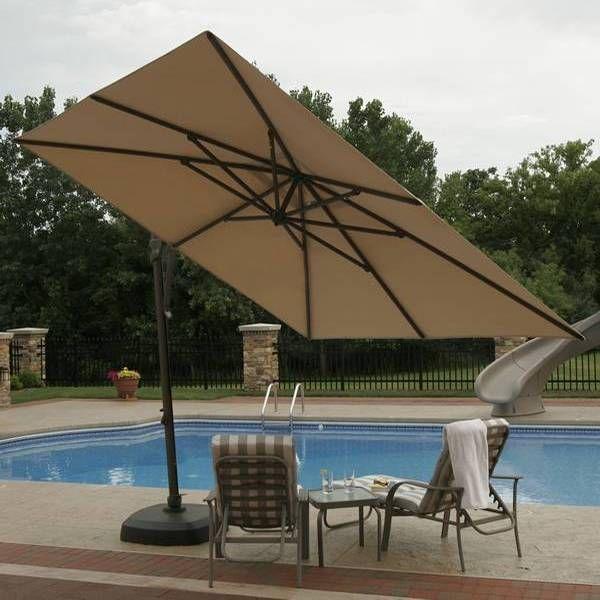 Santorini Ii Cantilever Umbrella Off Set Umbrellas Pinterest