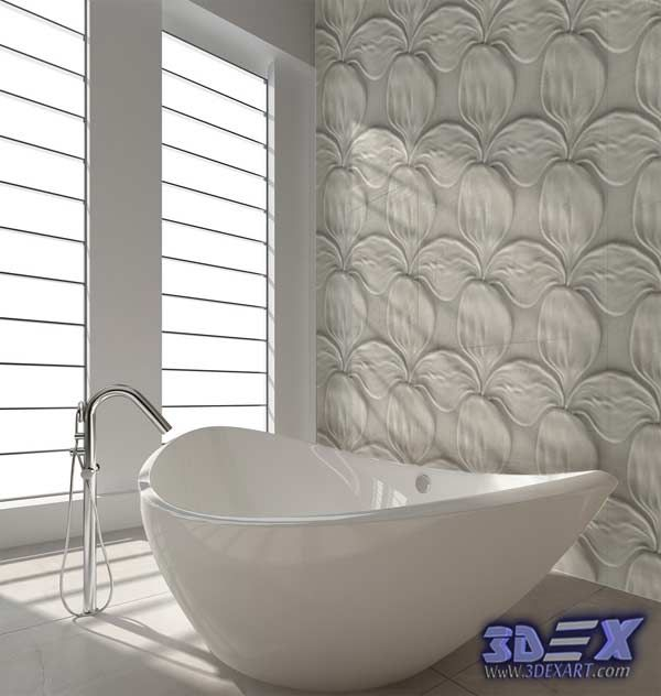 decorative 3d gypsum wall panels for bathroom, plaster wall paneling ...