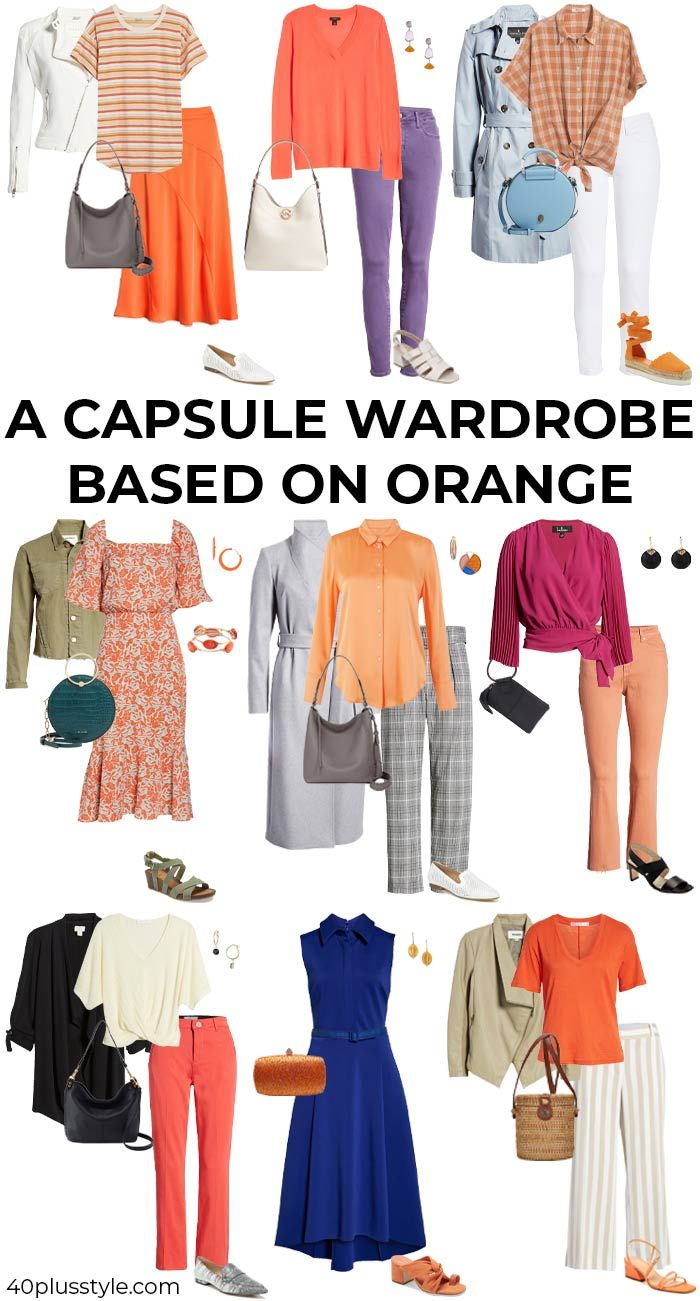 what to match with orange pants