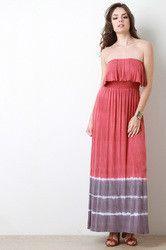Tie Dye Flounce Top Maxi Dress