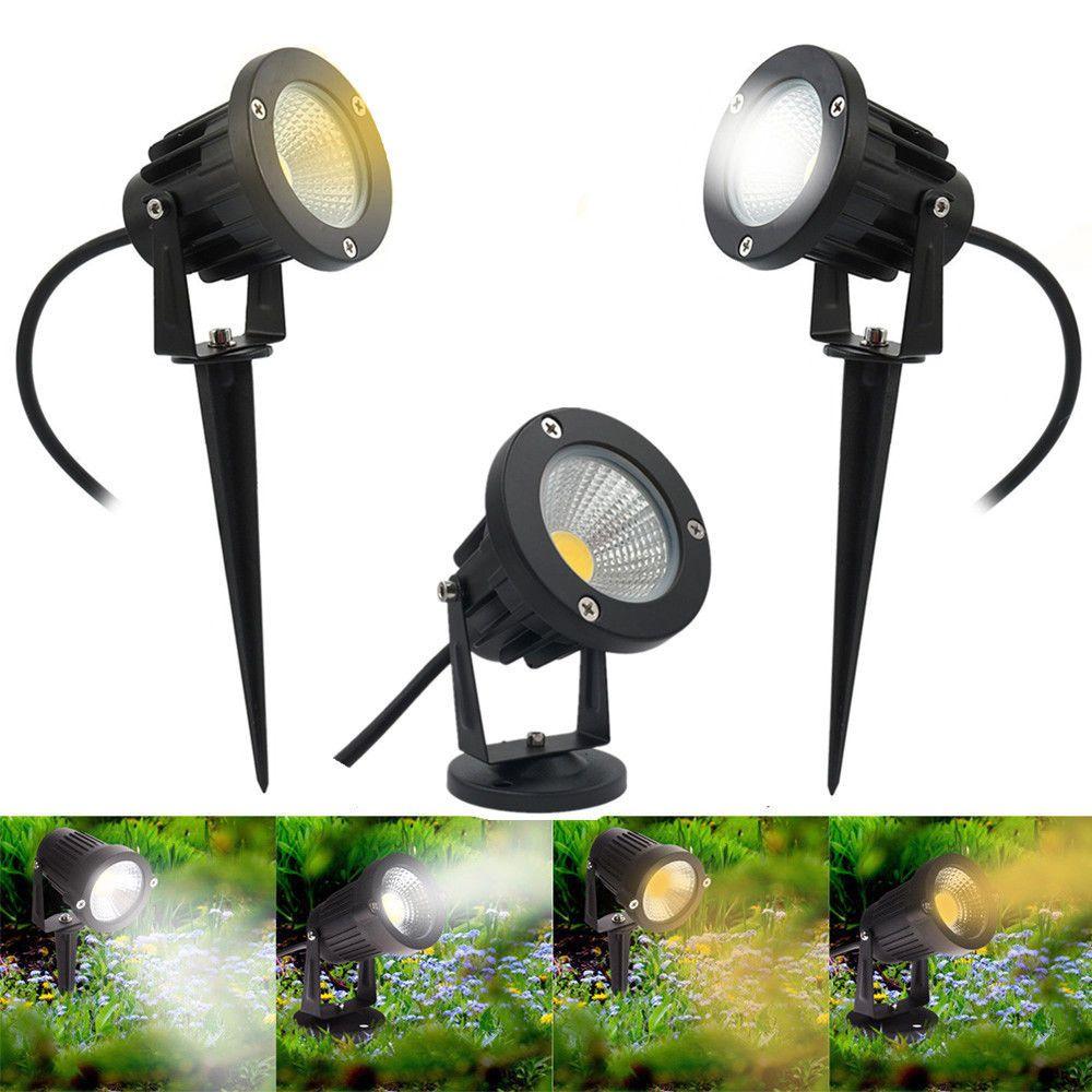 Led Garden Spike Lights Outdoor Ip65 Yard Path Landscape Spotlight 240v Mains Ebay Bahce