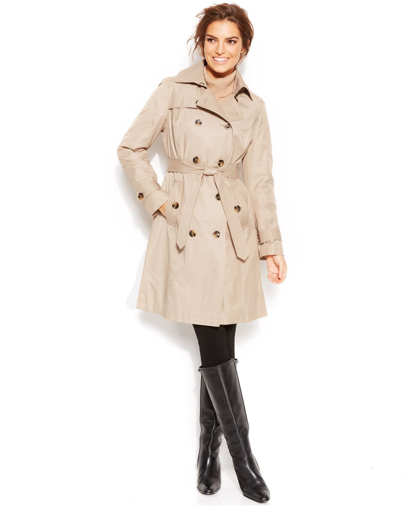 7452a922b London Fog Belted Trench Coat - Coats - Women - Macy's; THIS IS FOR ...