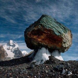 A Glacial Mushroom near the Muztagh Tower - Pakistan #rock #climbing #mountaineering #cliff #techniques