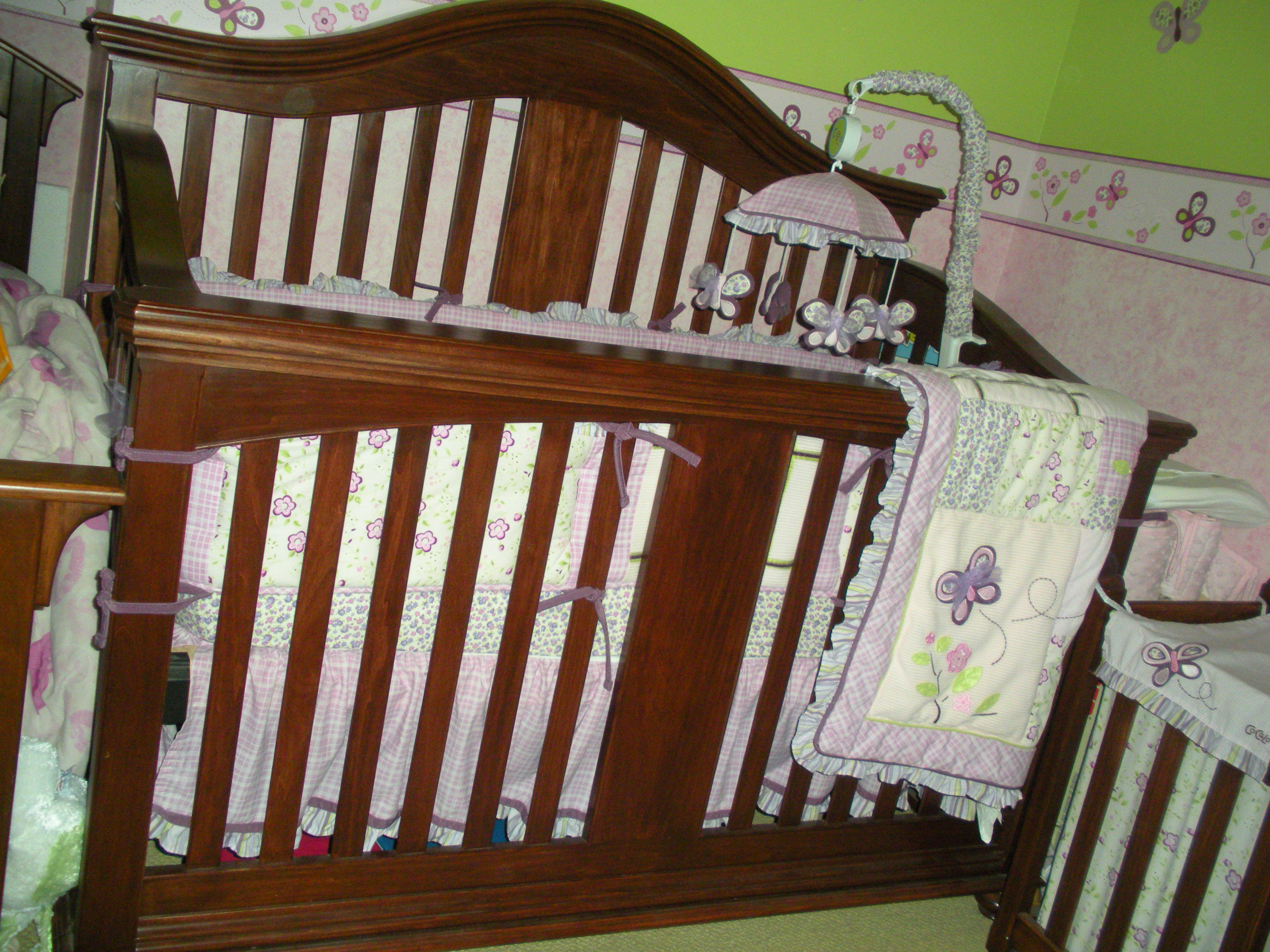 Handmade 4 in 1 baby crib. Look for the toddler bed conversion photo ...