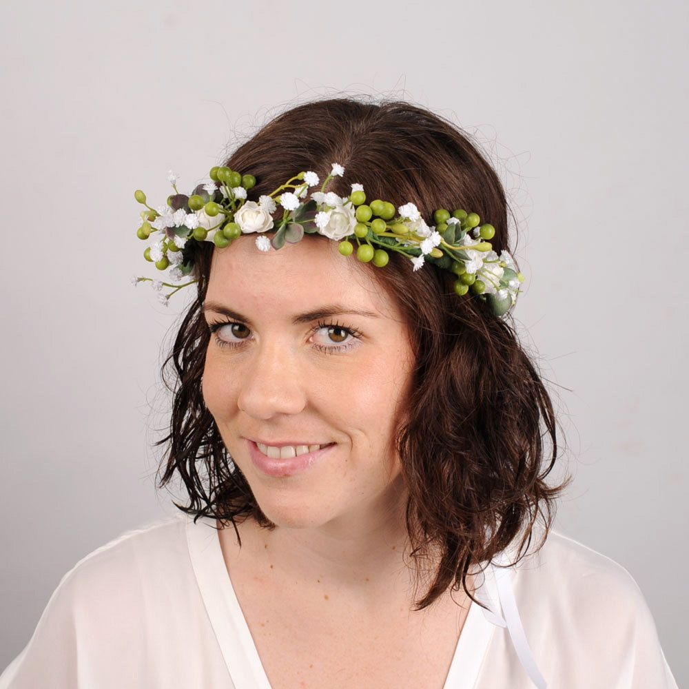 Flower hair crown woodland headband leaf crown floral head piece flower hair crown woodland headband leaf crown floral head piece wedding hair piece bridal flower crown succulent hair garland halo izmirmasajfo Choice Image