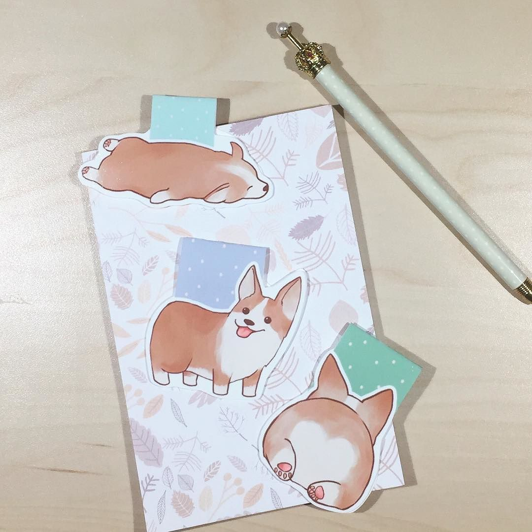 These corgi clips by @hellopapercat definitely put a smile on my face- butt! #hellopapercat #plannersandcoffee