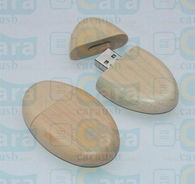 wooden oval usb flash disk