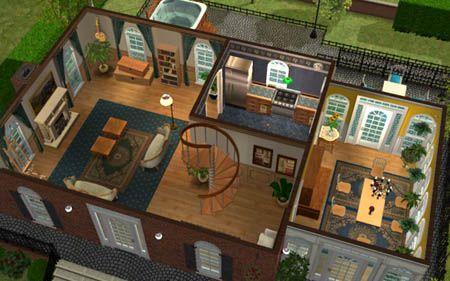 Sims 2 petite maison coloniale id e de maison archi for Plan maison coloniale