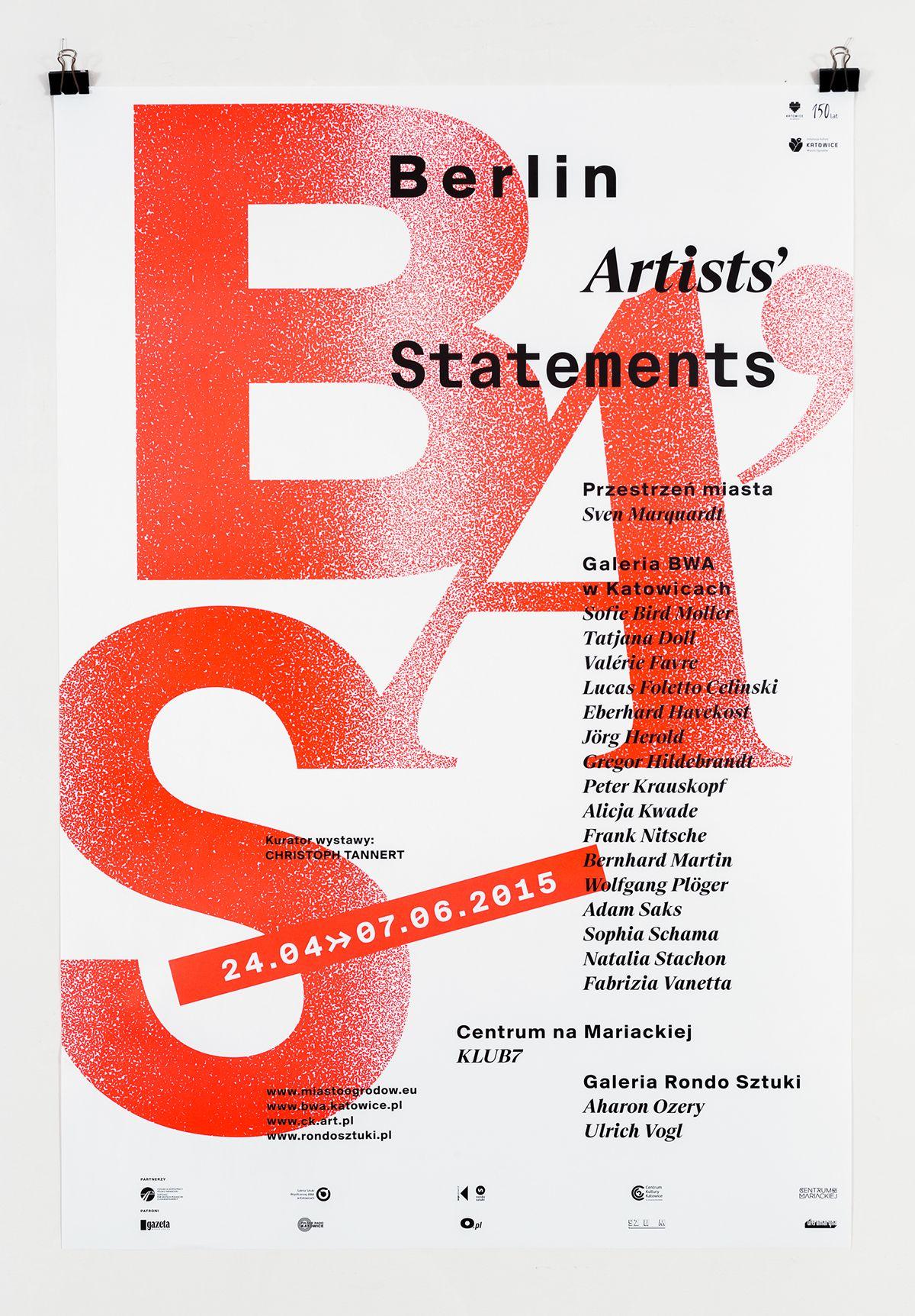 Berlin Artists' Statements on Behance Artist statement