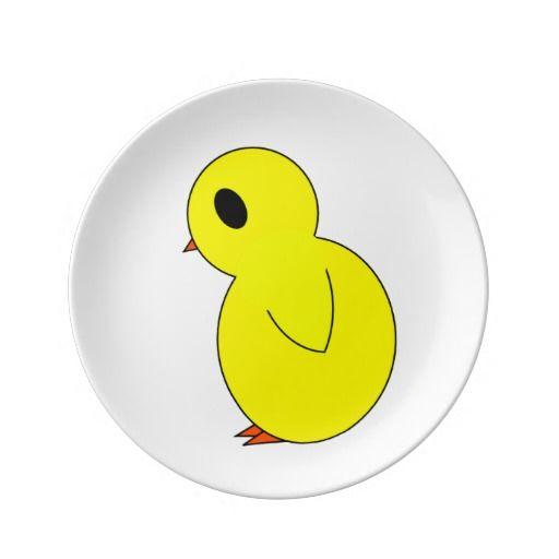 Peepor Little Easter Chick Porcelain Plate