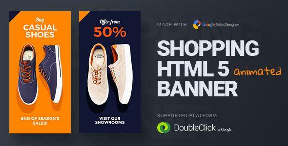 Online shopping html5 google banner ad 23 google for Design shop online