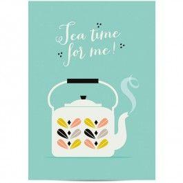 Zü poster tea time for me 29.7 x 42 cm