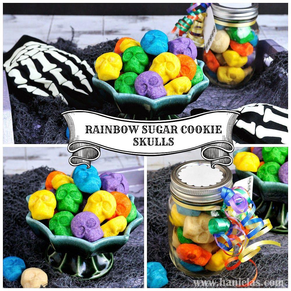 Rainbow Sugar Cookie Skulls | Rainbow sugar cookies ...