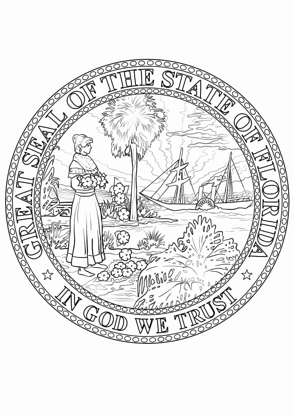 Virginia State Flag Coloring Page Awesome Coloring Pages 47 Florida Coloring Page Image Ideas Ponce Flag Coloring Pages Florida Flag Coloring Pages