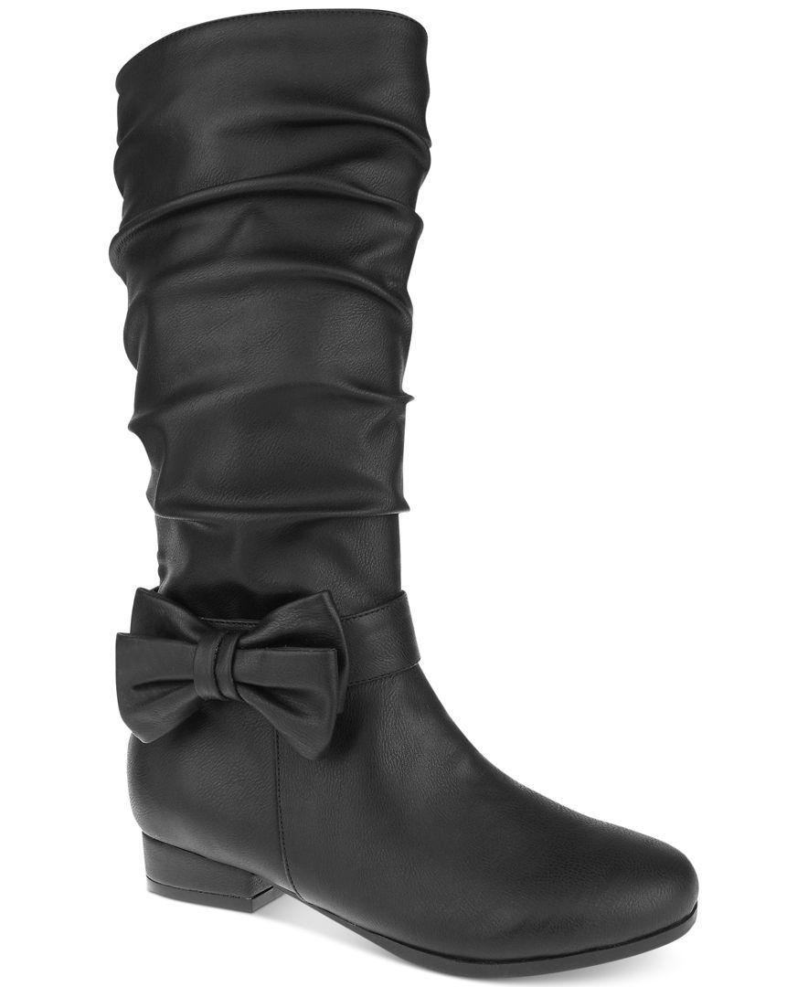 Nina Girls' or Little Girls' Tall Bow Boots