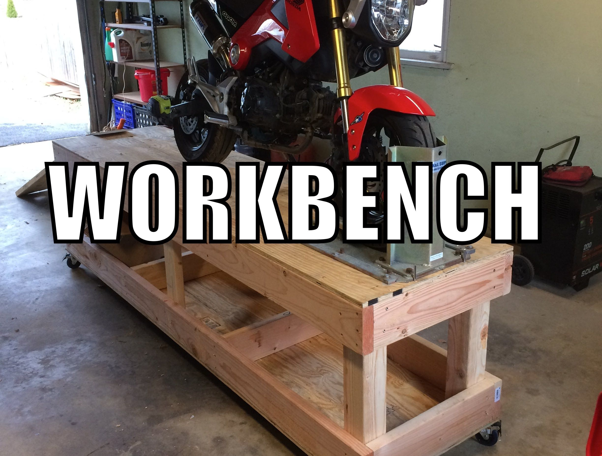 How To Build A Motorcycle Workbench Bike Stand Diy Motorcycle Lift Table Workbench