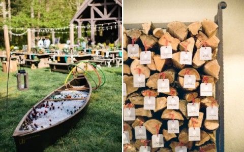 Canoe Ideas Refreshments Before Ceremony Archway And Aisle