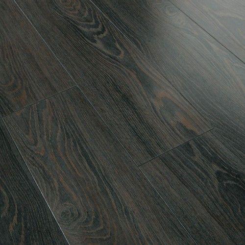Series 8mm Gloss Black Oak Laminate Flooring For The Home
