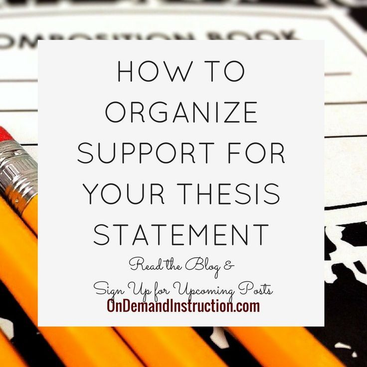 how to organize a thesis