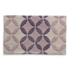 Lacey Purple Monochromatic Circle Bath Rug Bed Beyond Love This