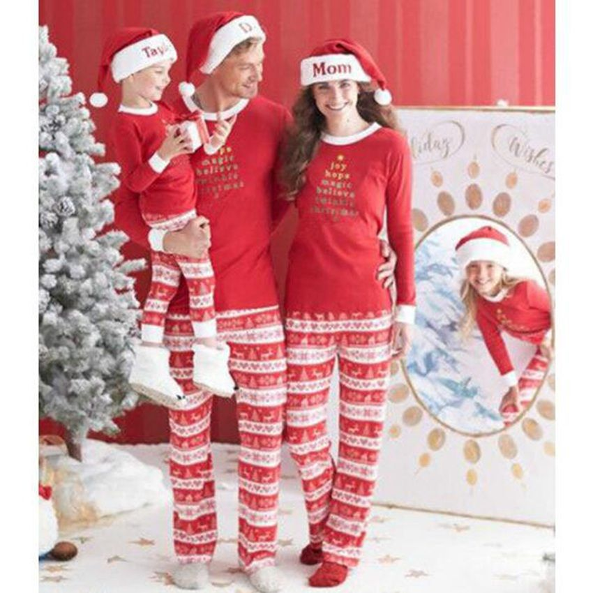 Belababy Family Matching Sets Christmas Outfits Fashion Striped ...