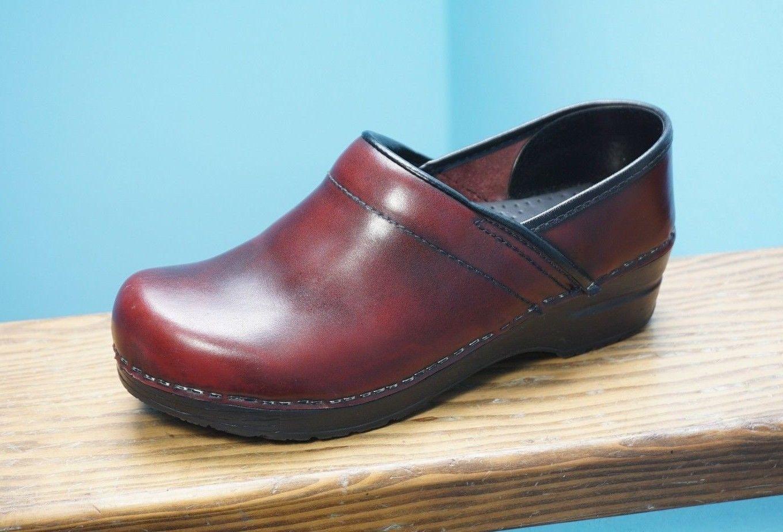 Dansko 39 Brown Leather Clogs Work Shoes