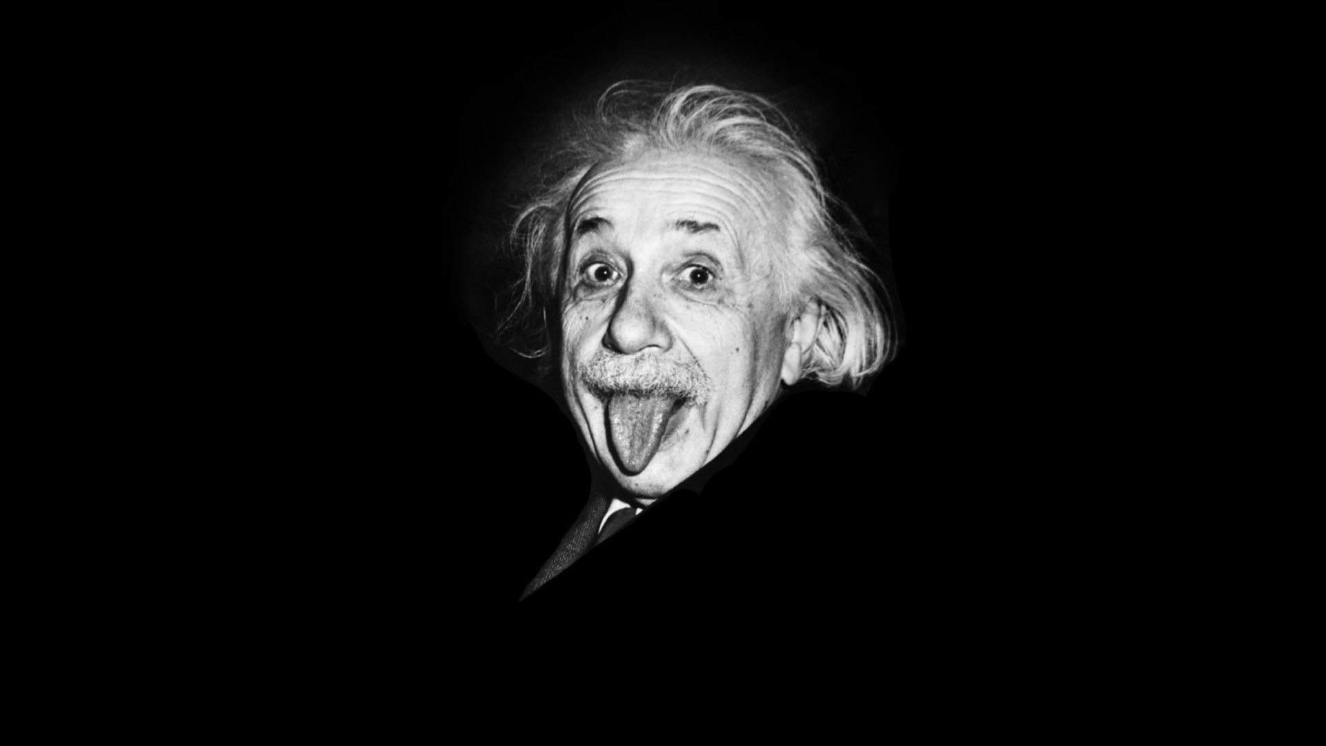 Full HD Wallpaper Albert Einstein Mouth Face Tongue
