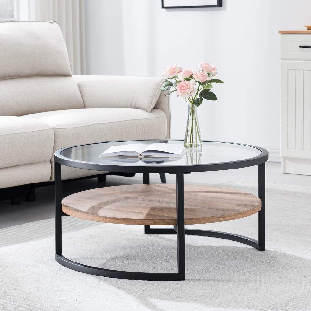 This Industrial Yet Elegant Coffee Table Is The Perfect Pick For Your Living Ro Coffee Table Coffee Table For Small Living Room Round Coffee Table Living Room [ 1000 x 1000 Pixel ]