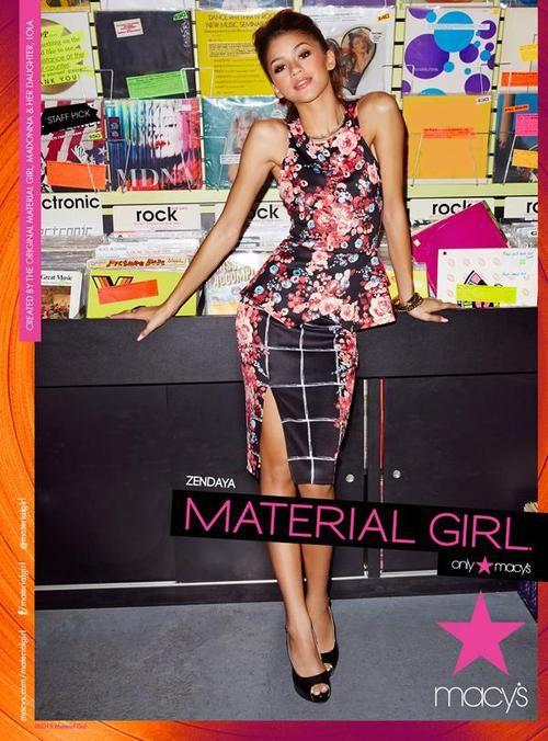 Fashion Floral Skirt Material Girls Zendaya Model Zendaya