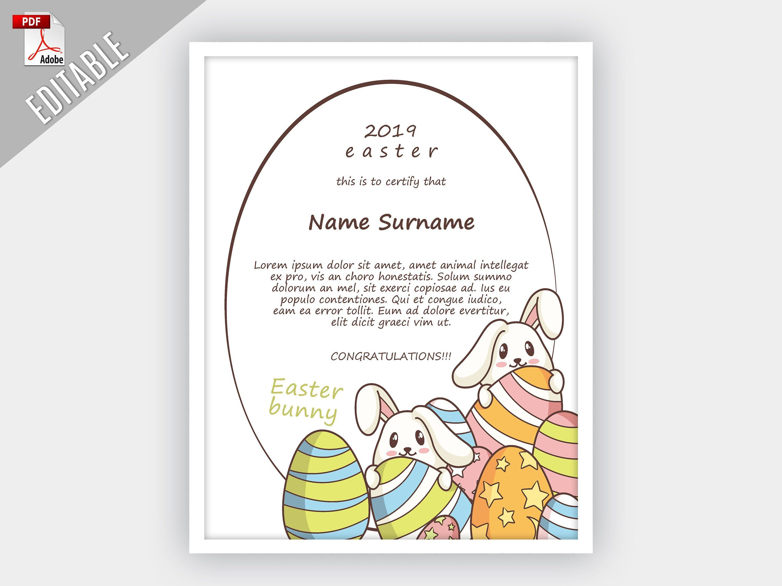 Easter Bunny Letter Template Printable Bunny Letter Kids Bunny
