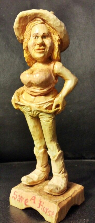 Carving by tom wolfe from a mitch cartledge roughout the