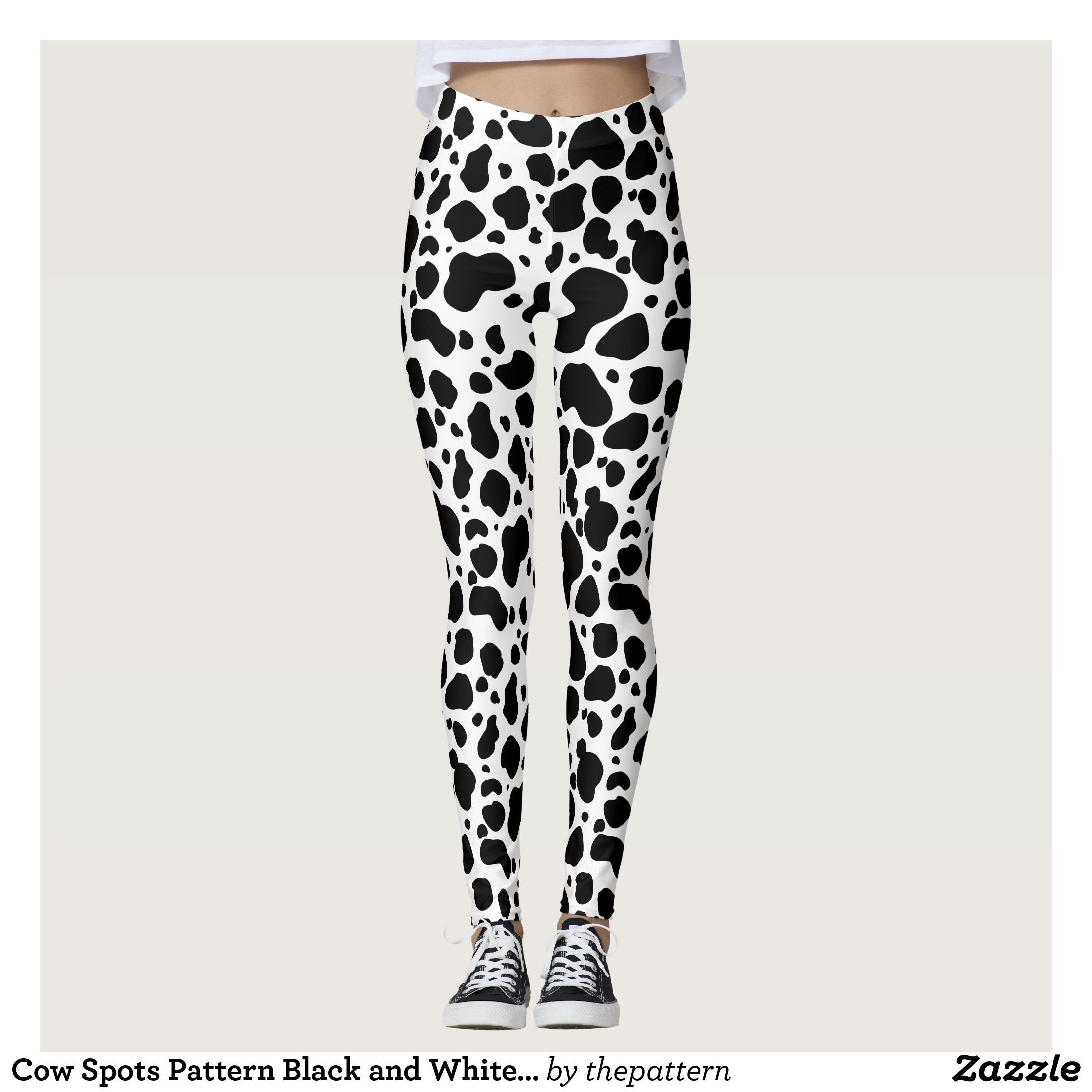ab1bf88b405746 Cow Spots Pattern Black and White Animal Print Leggings : Beautiful #Yoga  Pants - #Exercise Leggings and #Running Tights - Health and Training  Inspiration ...