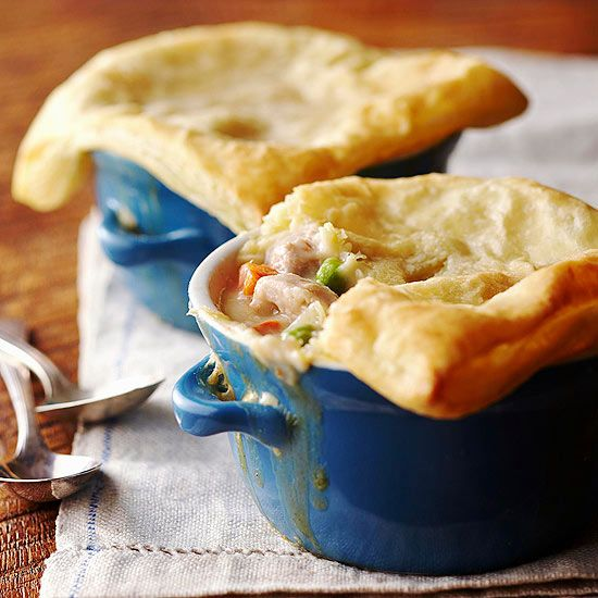 Everyone will love this old-fashion favorite Chicken Pot Pie. More fall comfort food: http://www.bhg.com/recipes/party/seasonal/fall-comfort-food/?socsrc=bhgpin100113chickenpotpie&page=9