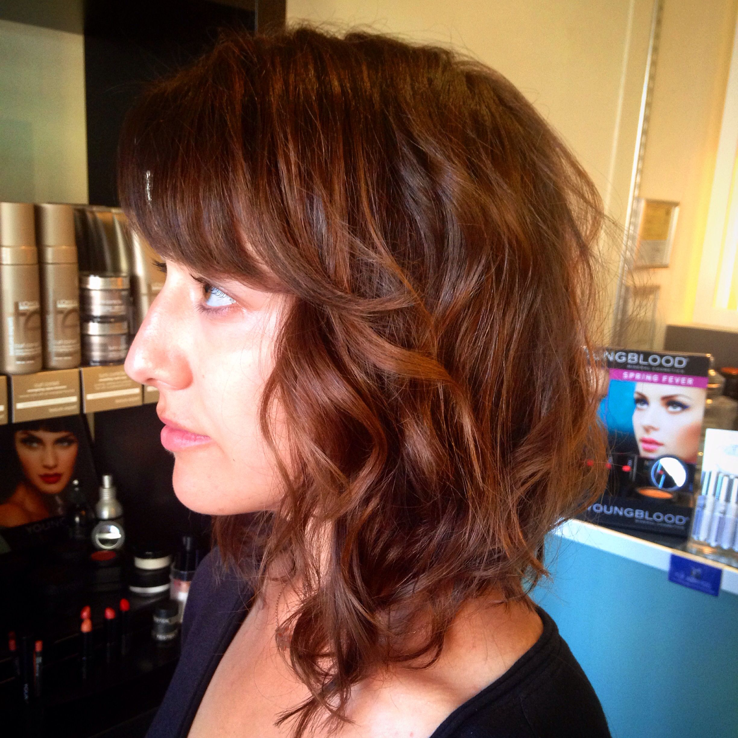 Chocolate hair color. Rich brown. Warm. Brunette hair color. Long ...