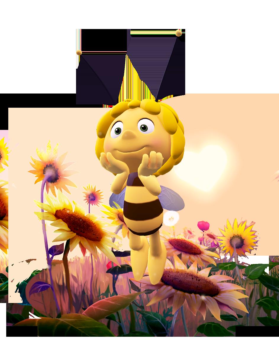 Живые открытки картинки веселая пчелка майя