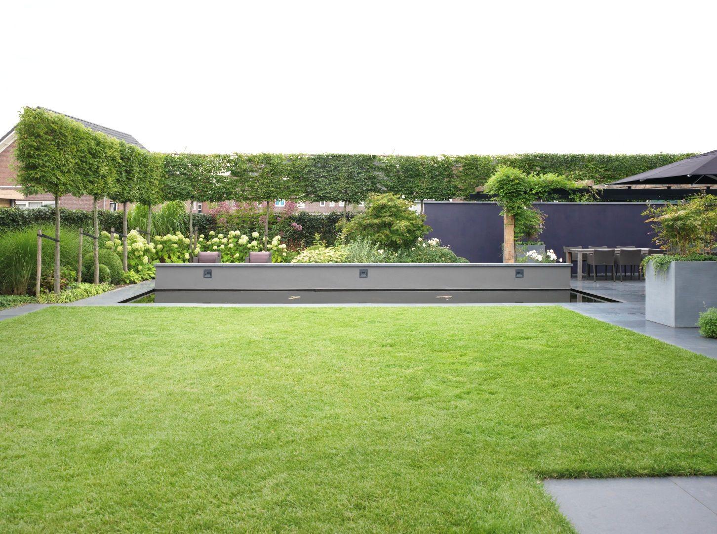 Moderne tuinen moderne tuin bij een nieuwbouw woning garten