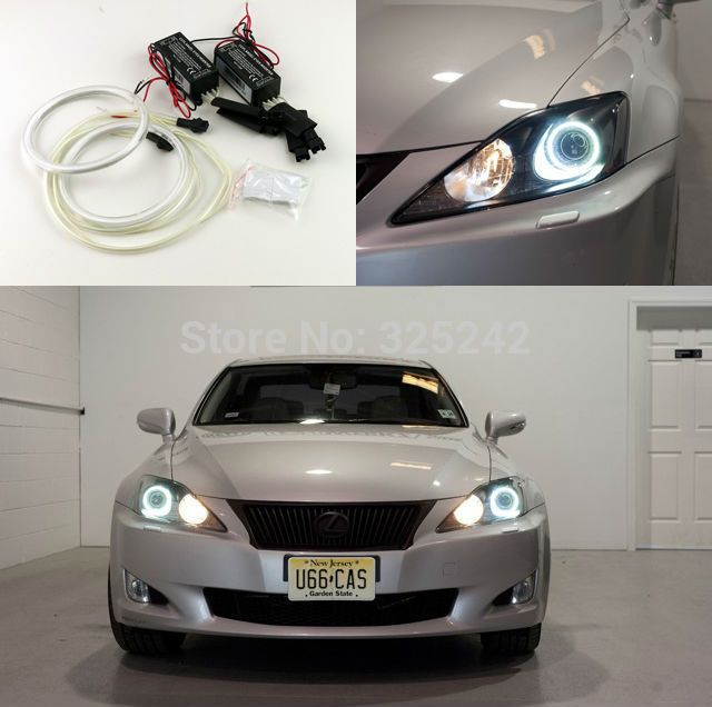 Find More Angel Eyes Information About Excellent Quality Ultrabright Headlight Illumination Ccfl Angel Eyes Kit For Lexus Is250 X Lexus Angel Eyes Lexus Is250