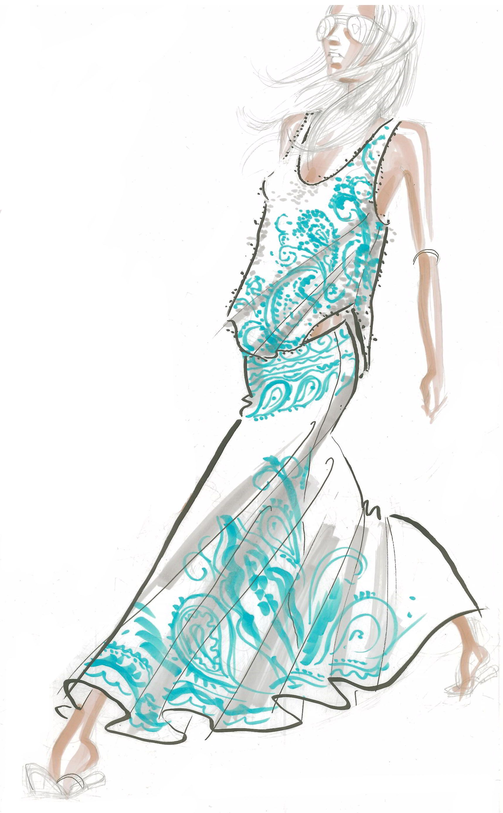 Sketch cute girl pinterest sketches fashion illustrations and