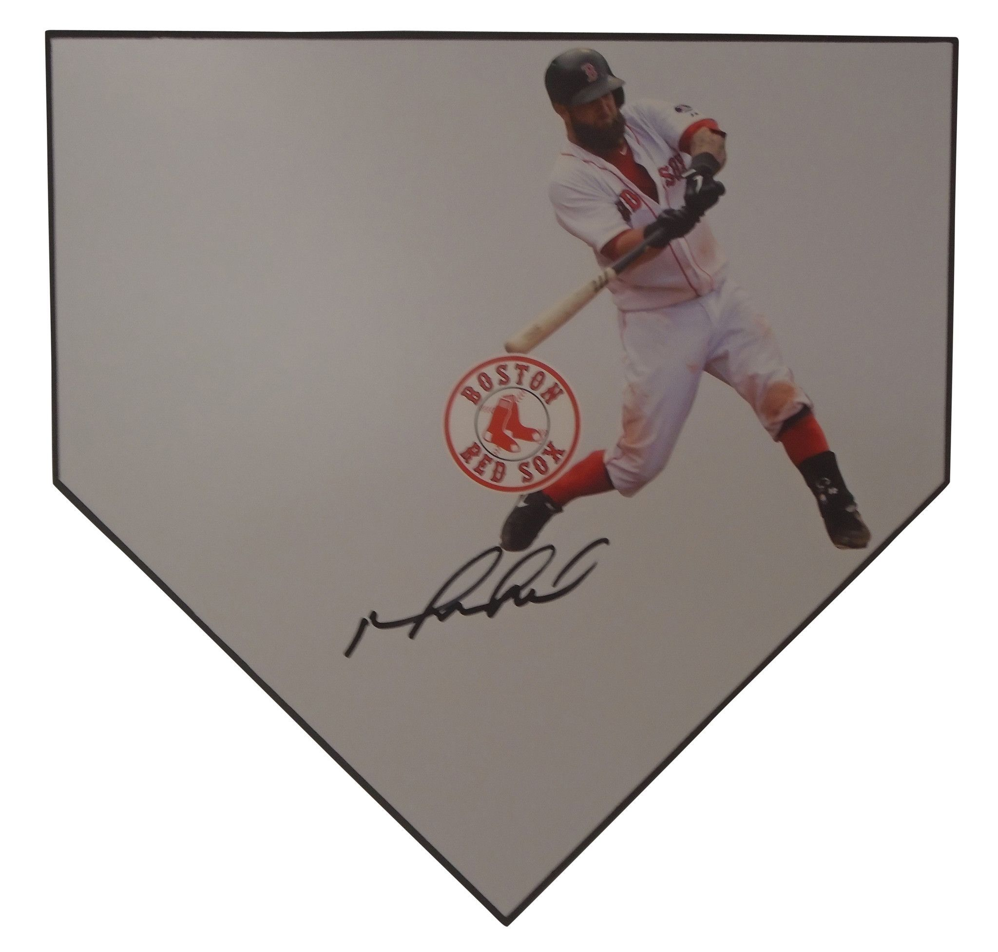 Boston Red Sox Mike Napoli signed Home Plate w/ proof photo.  Proof photo of Mike signing the base, will be included with your purchase along with a COA issued from Southwestconnection-Memorabilia, guaranteeing the item to pass authentication services from PSA/DNA or JSA. Free USPS shipping. www.AutographedwithProof.com is your one stop for autographed collectibles from Boston sports teams. Check back with us often, as we are always obtaining new items.