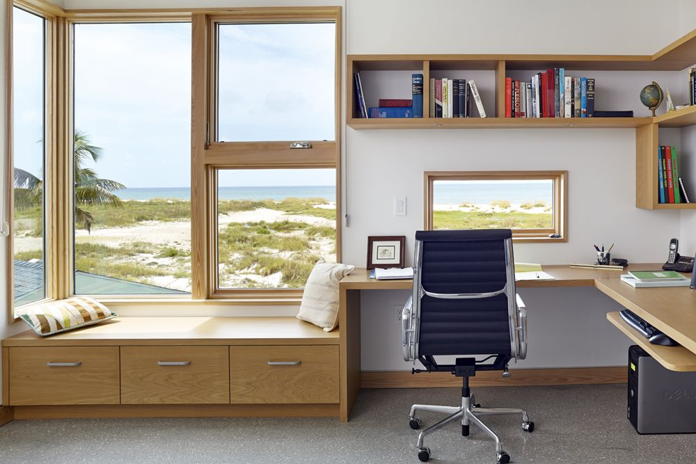 Superieur Presenting 30 Beach Style Home Office Design Ideas