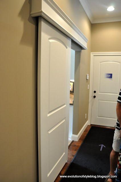 couverture pour cacher une porte coulissante projets essayer pinterest portes. Black Bedroom Furniture Sets. Home Design Ideas