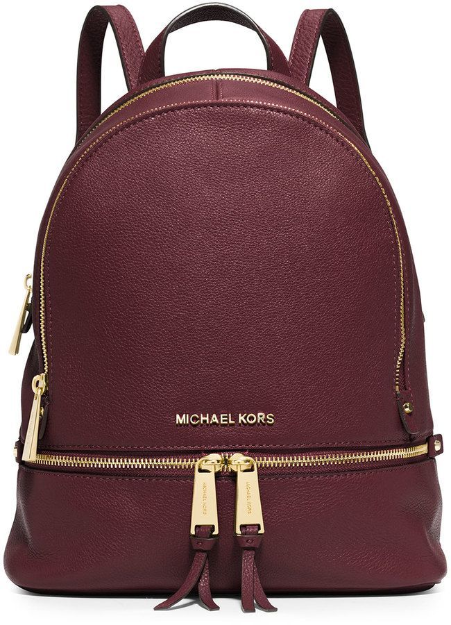 d7612f3a9dc MICHAEL Michael Kors Rhea Small Zip Backpack, Merlot - handbag, vintage,  popular, coin, big, fabric purse *ad