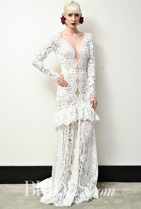 Brides.com: . Wedding dress by Christos Costarellos