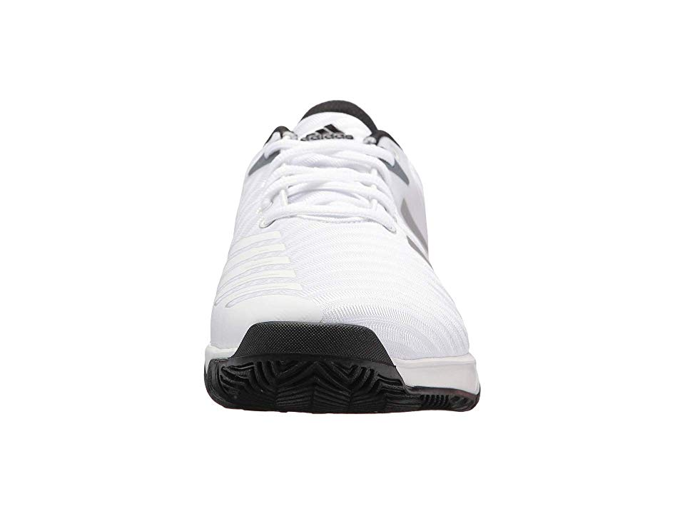 best website 683c8 4cffa adidas Barricade Court 3 Wide Mens Tennis Shoes WhiteSilverBlack