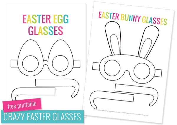 Crazy Fun Free Printable Easter Glasses Easter Printables Free Easter Craft Templates Easter Projects